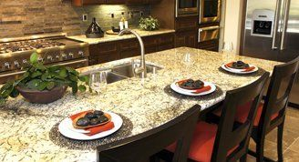 kitchen table with granite top