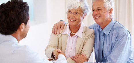couple talking pension