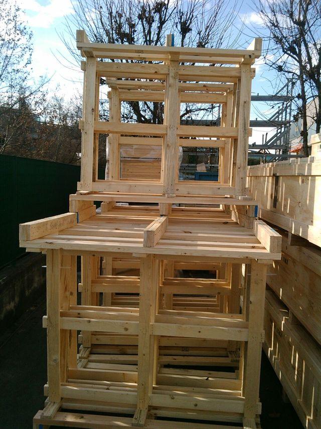 bancali in legno, casse in legno, pellet