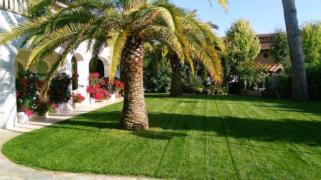 Vista di un giardino a Seravezza