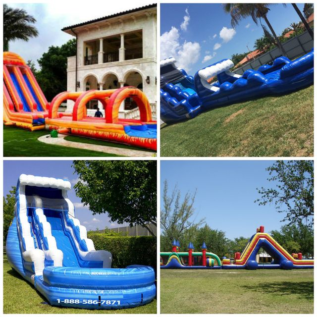 Inflatable Water Slide To Rent: Bounce House Rentals And Party Inflatable Rentals In Miami