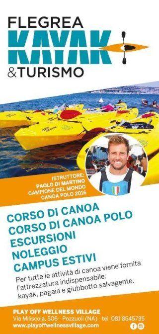 volantino di FLEGREA KAYAK & TURISMO- play off wellness village