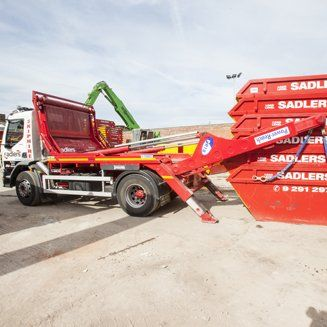 skip hired for waste disposal