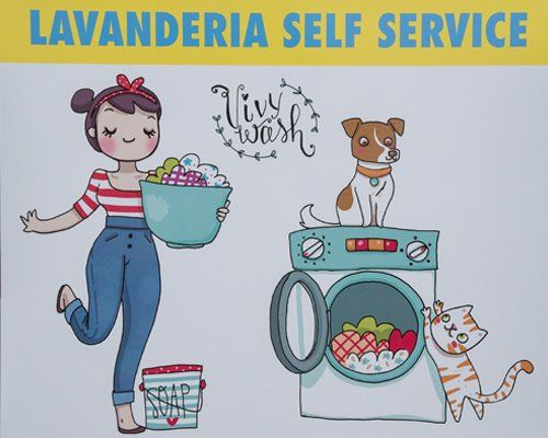 volantino lavanderia