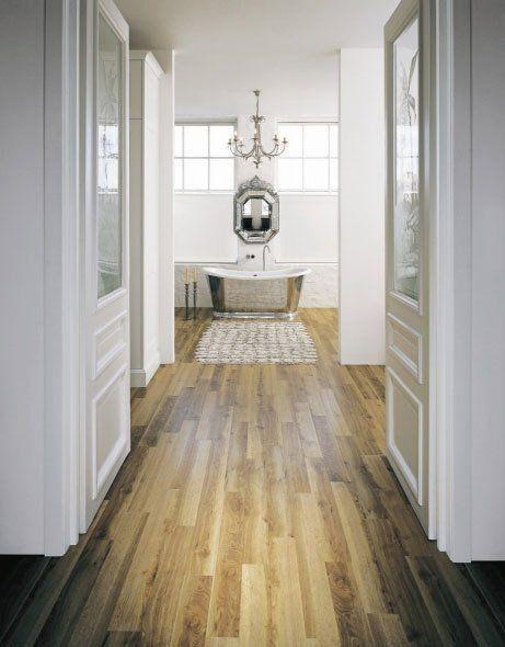 Flooring in a bathroom