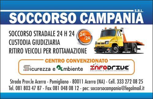 Biglietto da visita del soccorso stradale Soccorso Campania a Napoli e provincia