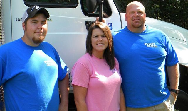 The current owners of Price's Septic Tank Service, Gary's Construction