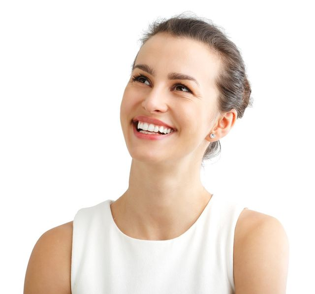 A woman smiling after undergoing tooth whitening in Denham Court