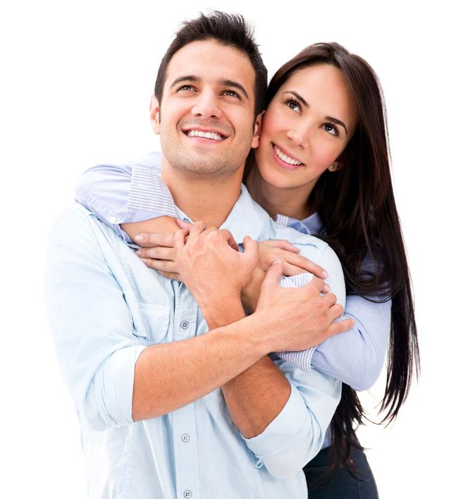 couple with great teeth smiling