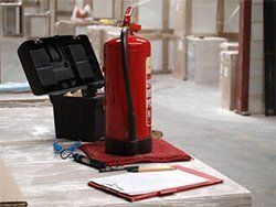 fire extinguisher in office
