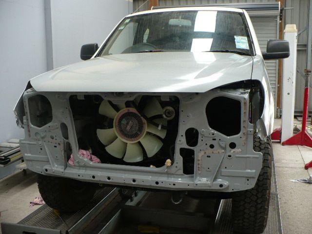 Car after smash repairs