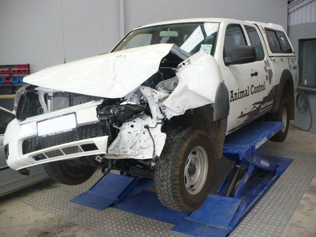Car smashed