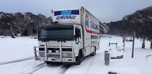 Truck used for furniture removals in Torquay