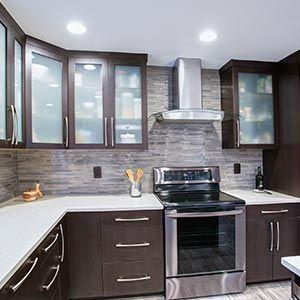 Bon Remodel Professionals U2014 Kitchen With Dark Wood Cabinets In Hamilton, NJ