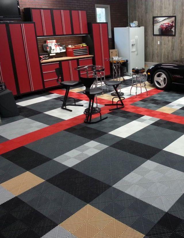 Custom Garage Floor Tiles Multiple, Carpet Tiles For Garage Floors
