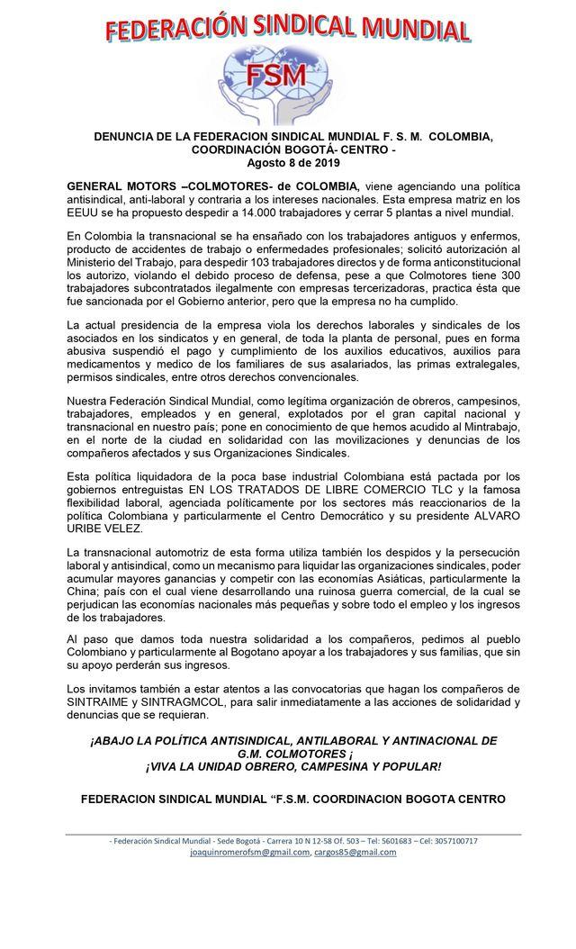 FEDERACIÓN FUNTRAMIEXCO - NOTICIAS