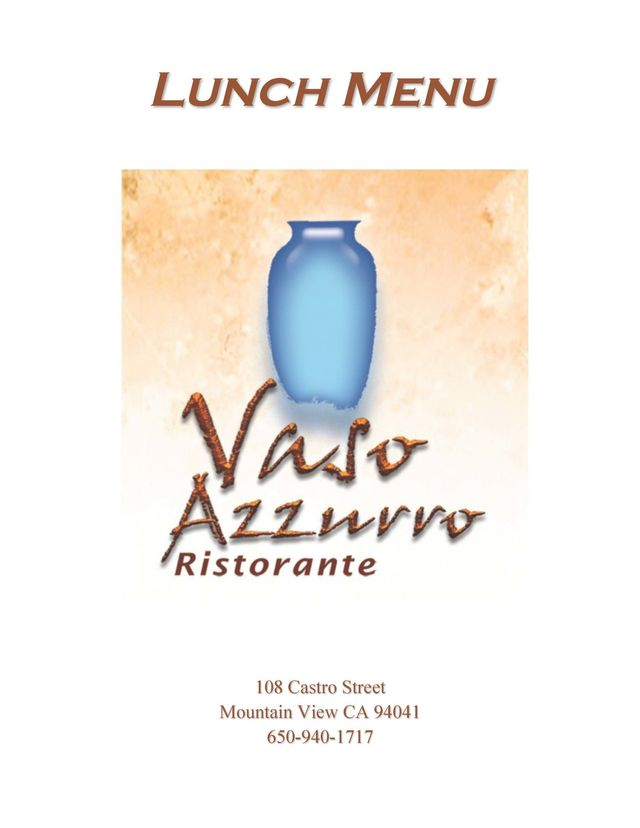Italian Cuisine | Mountain View, CA  | Vaso Azzurro Ristorante