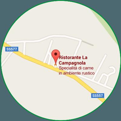 Mappa per raggiungere La Fontana