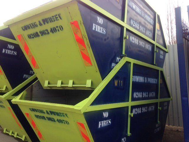 skips ans cage lorries