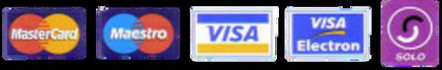MasterCard, Maestro, VISA, VISA Electron and SOLO logos