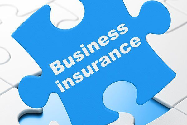 Business Insurance on Blue puzzle