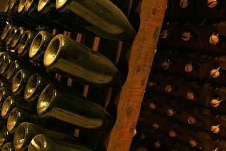 bottiglie di vino a riposo
