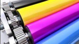 rulli di stampa colorati