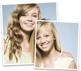 Two girls with healthy smiles