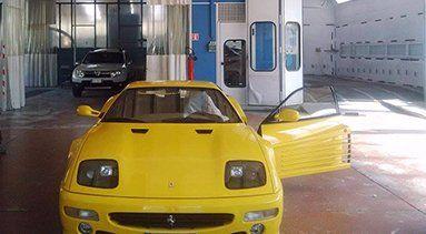 Ferrari in riparazione a Villa Carcina