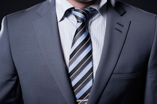 Close-up of a man in a suit in Forfar