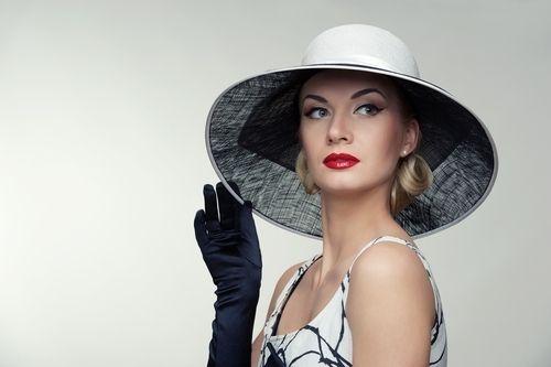 Elegant woman wearing a hat
