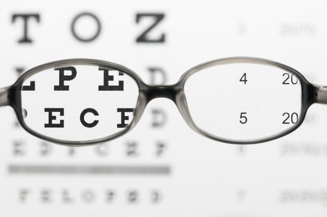 Glasses and eye test