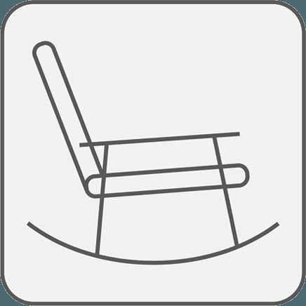 Icona di una sedia a dondolo
