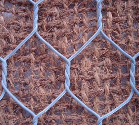 rete metallica a maglie larghe con rete a maglie strette