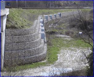 drenaggio con muri di sostegno