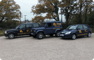 Troop of Martins of Exeter vehicles