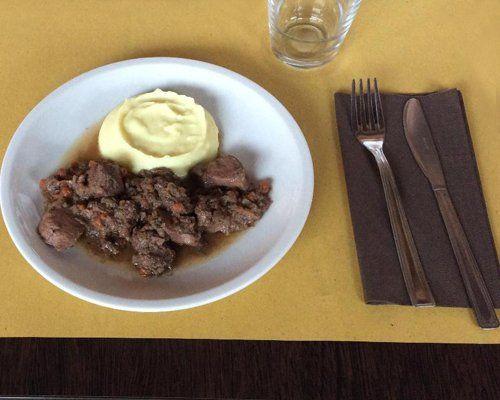 piatto di carne e polenta