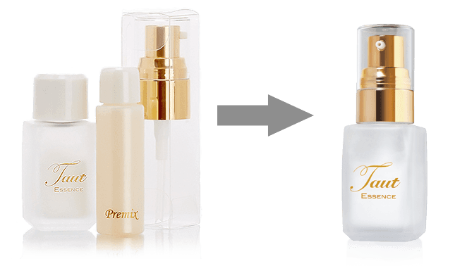 How to use Taut Collagen Essence. Add serum into the powder bottle. Close tightly and shake. | RenewAlliance