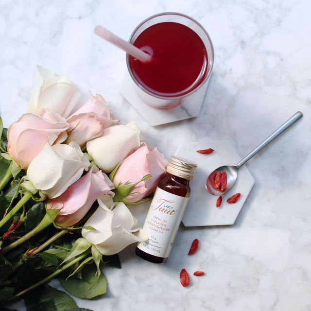Taut® Premium Collagen Drink -  Review from blogger Elaine Low - Key to Radiance | RenewAlliance dba TautUSA