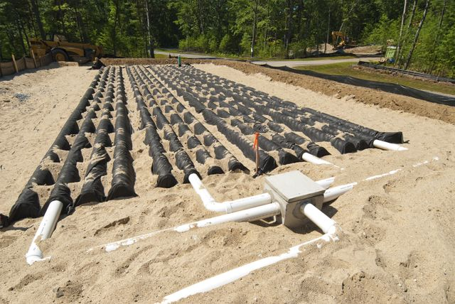 A septic tank system