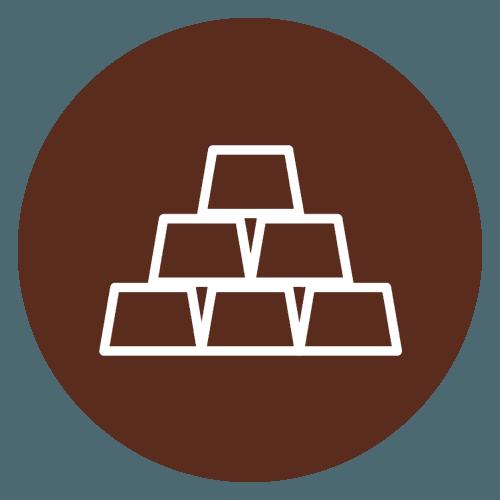 lingotti d'oro icona