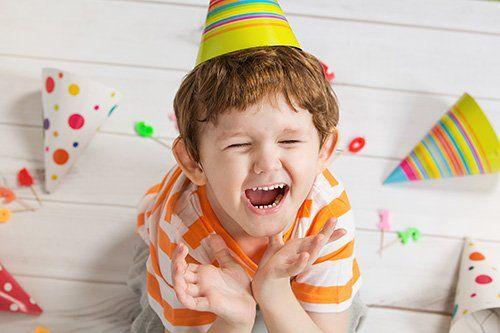 Young boy at birthday