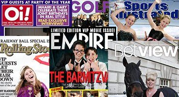 magazine covers template with people posing