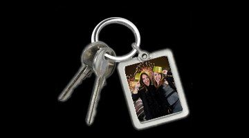 photo printed on a key ring