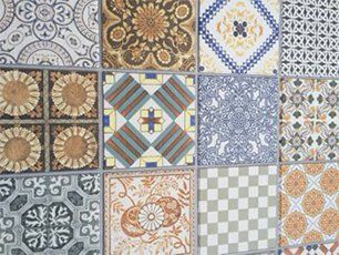 A collection of mosaic style tiles