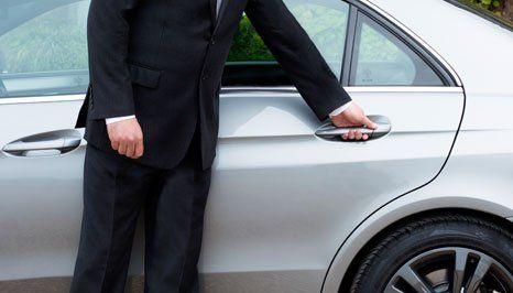 man opening the car door