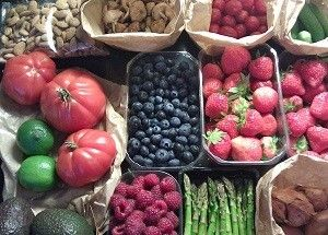 Whole food fruits and vegetables