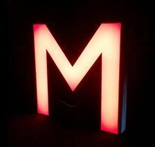 M illuminated sign