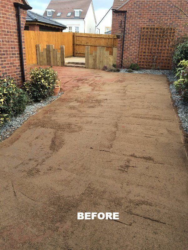 area before grass laying