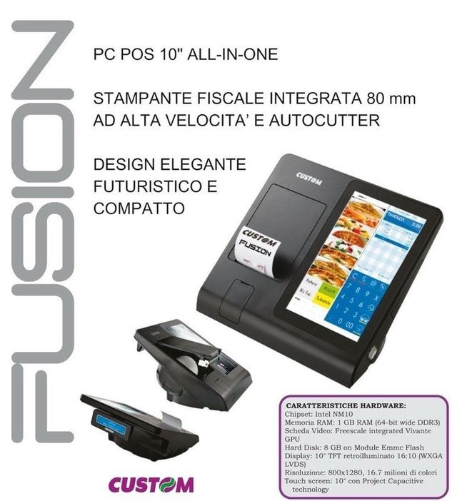 un pc pos all in one con stampante fiscale integrata